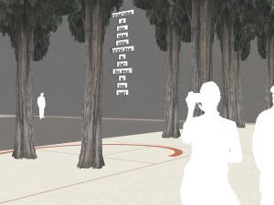 vista in dettaglio del monumento